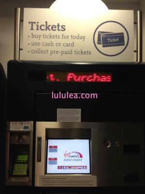 イギリスで電車のチケット発券