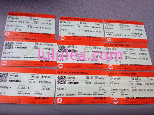 イギリス列車チケット