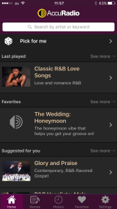 accuradio-iphone app