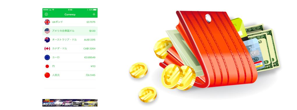 通貨換算アプリcurrency