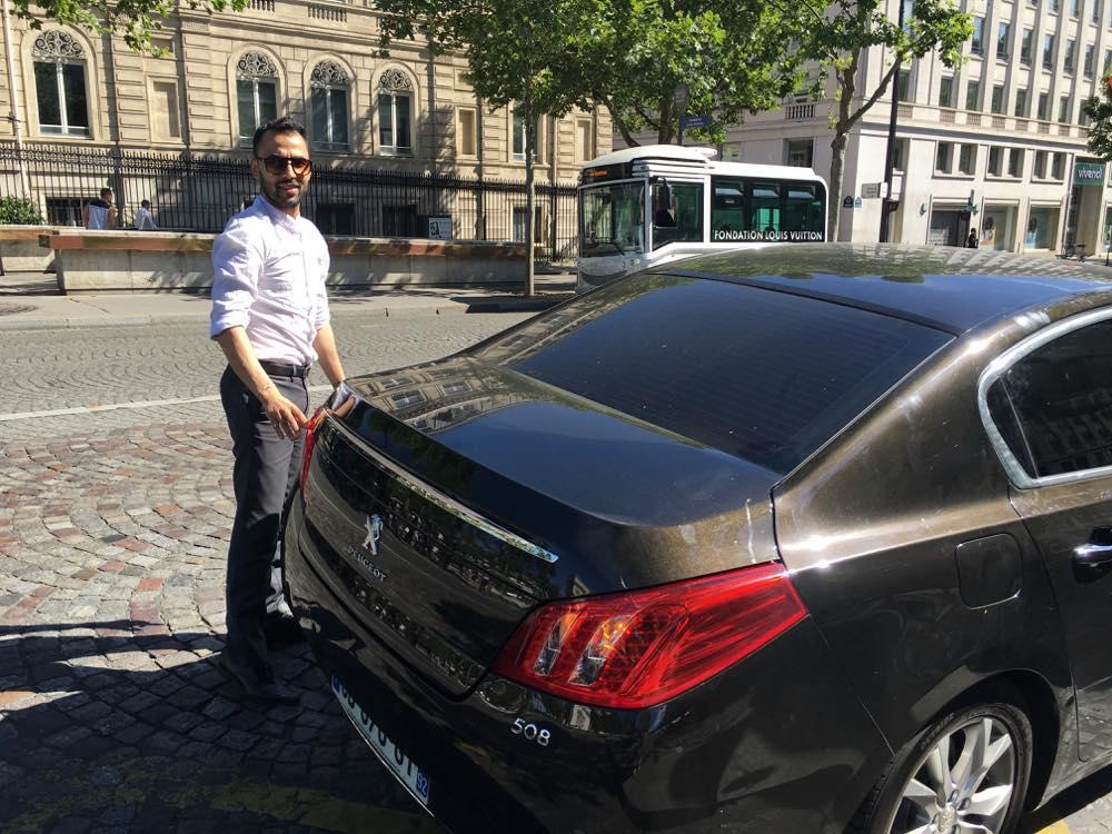 パリでUberに乗車